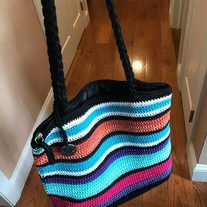 Cross shoulder bag made by the sack